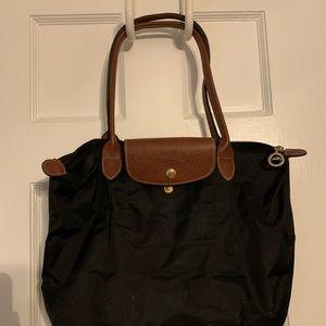 Black Longchamp Small Le Pliage Tote
